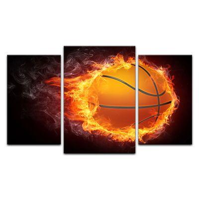 Leinwandbild - Basketball Feuer – Bild 10