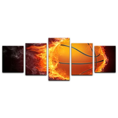 Leinwandbild - Basketball Feuer – Bild 13