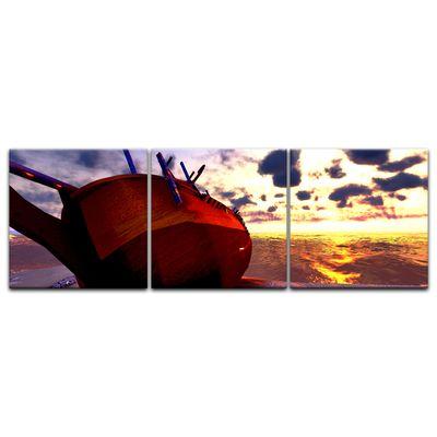 Leinwandbild - Boot am Strand – Bild 13