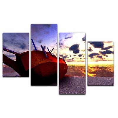 Leinwandbild - Boot am Strand – Bild 5