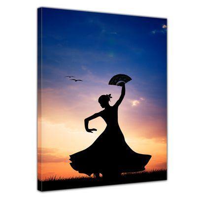 Leinwandbild - Flamencotänzerin – Bild 1