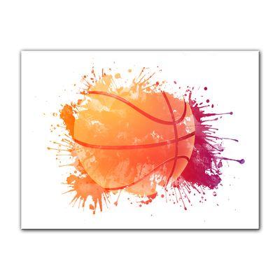 Leinwandbild - Grunge Basketball  – Bild 4