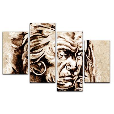 Leinwandbild - Indianer V, Tattoo Art  – Bild 13
