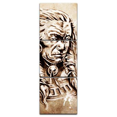 Leinwandbild - Indianer V, Tattoo Art  – Bild 8