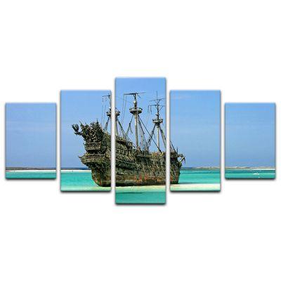 Leinwandbild - Piratenschiff in der Karibik – Bild 6