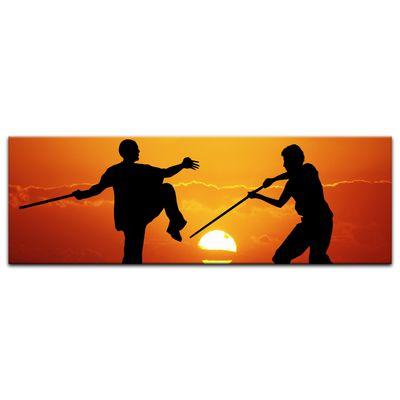 Leinwandbild - Silhouette - Kung Fu – Bild 6