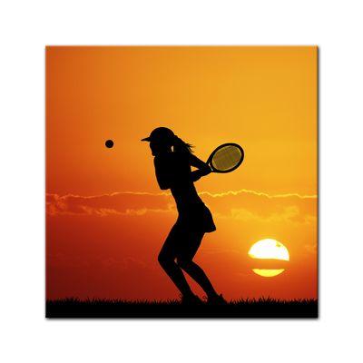 Leinwandbild - Silhouette - Tennis – Bild 2
