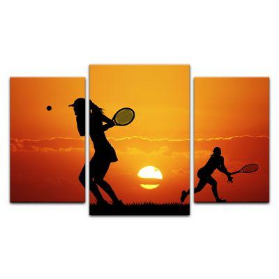 Leinwandbild - Silhouette - Tennis – Bild 10