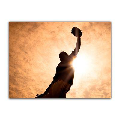 Leinwandbild - Silhouette - Baseballspieler – Bild 4