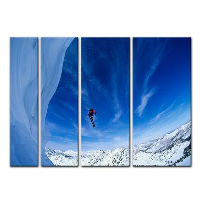 Leinwandbild - Skifahrer im Sprung – Bild 14