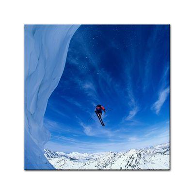 Leinwandbild - Skifahrer im Sprung – Bild 2