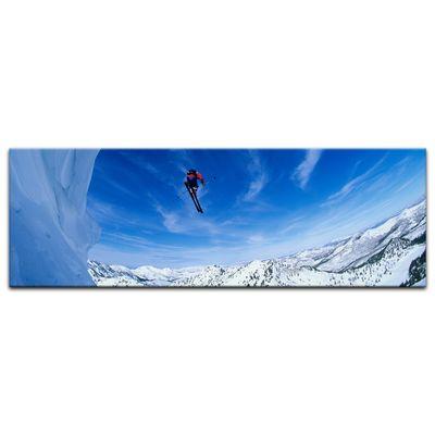 Leinwandbild - Skifahrer im Sprung – Bild 6