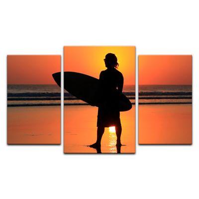 Leinwandbild - Surfer im Sonnenuntergang – Bild 10