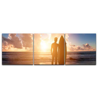 Leinwandbild - Surfer im Sonnenuntergang II – Bild 7