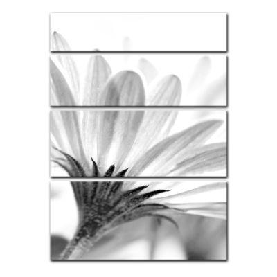 Leinwandbild - Blume - schwarz weiss  – Bild 11