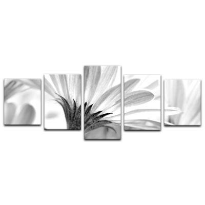 Leinwandbild - Blume - schwarz weiss  – Bild 14