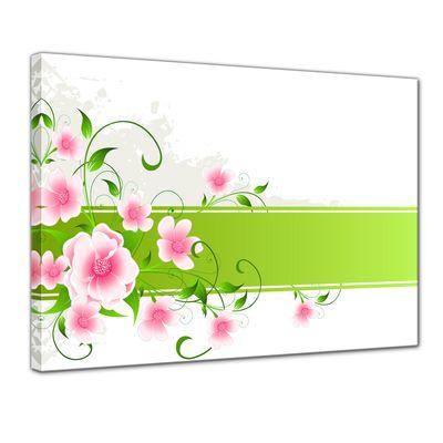 Leinwandbild - Blumen Grunge II – Bild 1