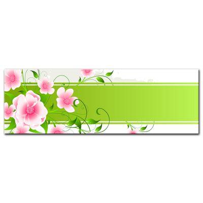 Leinwandbild - Blumen Grunge II – Bild 6