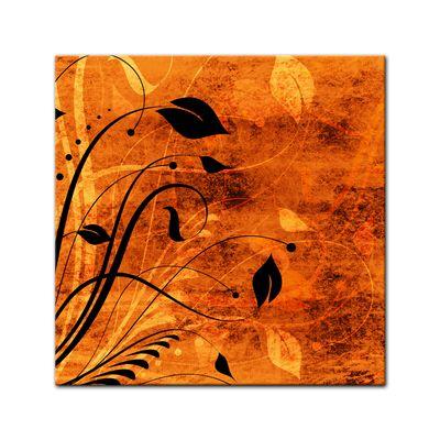 Leinwandbild - Blumen Grunge IV  – Bild 2