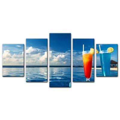 Leinwandbild - Cocktail am Swimmingpool  – Bild 4