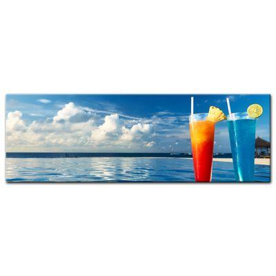Leinwandbild - Cocktail am Swimmingpool  – Bild 8