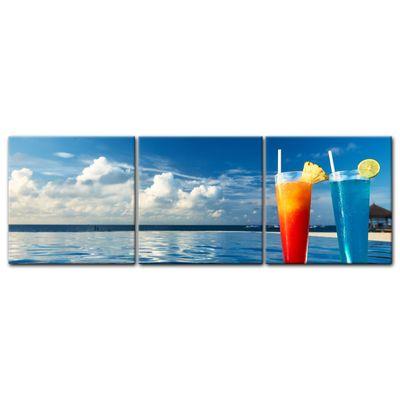 Leinwandbild - Cocktail am Swimmingpool  – Bild 9