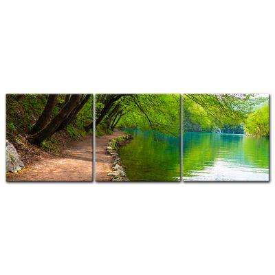 Leinwandbild - Flussufer  – Bild 11