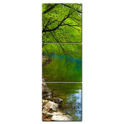 Leinwandbild - Flussufer  – Bild 5