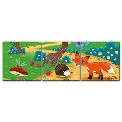 Leinwandbild - Kinderbild - Tiere im Wald – Bild 10