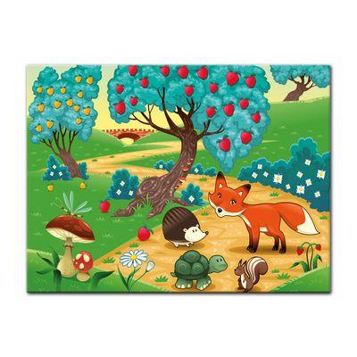Leinwandbild - Kinderbild - Tiere im Wald – Bild 8