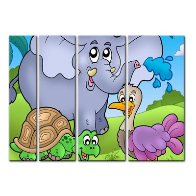 Leinwandbild - Kinderbild - tropische Tiere – Bild 5