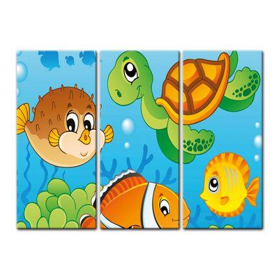 Leinwandbild - Kinderbild - Unterwasser Tiere V – Bild 6