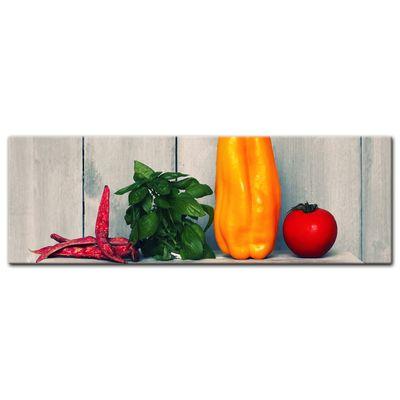 Leinwandbild - Paprika und Basilikum – Bild 9