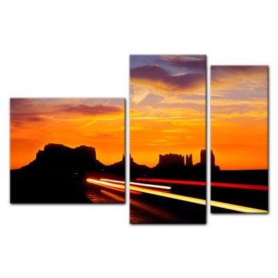 Leinwandbild - Sonnenuntergang über dem US Highway 163 - Monument Valley – Bild 13