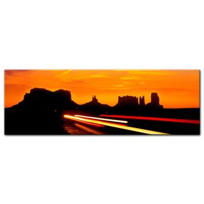 Leinwandbild - Sonnenuntergang über dem US Highway 163 - Monument Valley – Bild 5
