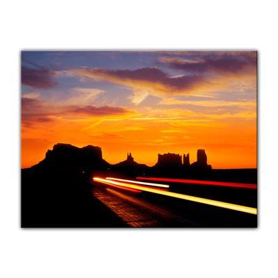 Leinwandbild - Sonnenuntergang über dem US Highway 163 - Monument Valley – Bild 4