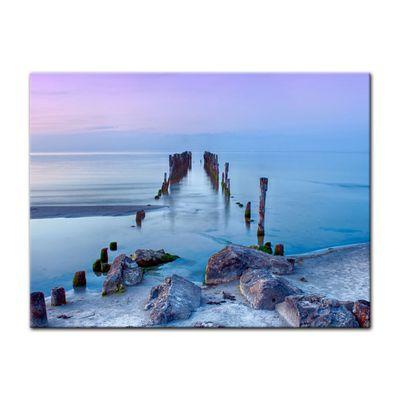 Leinwandbild - Alter Pier - Lettland – Bild 3