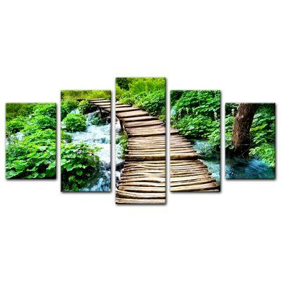 Leinwandbild - Brücke über einen Fluß – Bild 9