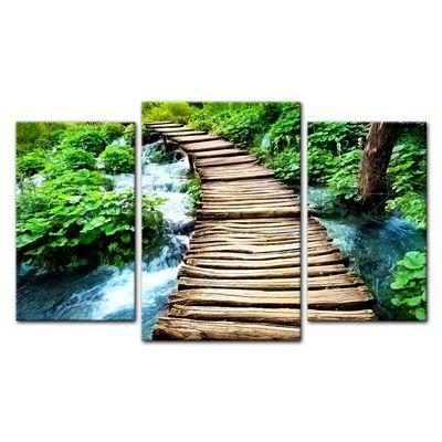 Leinwandbild - Brücke über einen Fluß – Bild 10