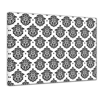 Leinwandbild - Florales Muster Tapete II  – Bild 1