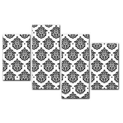 Leinwandbild - Florales Muster Tapete II  – Bild 11