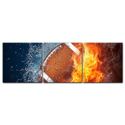 Leinwandbild - Football - Feuer und Eis – Bild 7