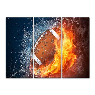 Leinwandbild - Football - Feuer und Eis – Bild 8