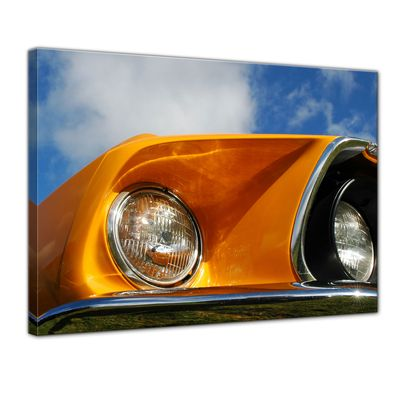 Leinwandbild - Ford Mustang - orange