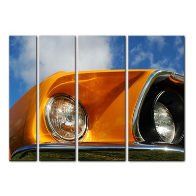 Leinwandbild - Ford Mustang - orange – Bild 14