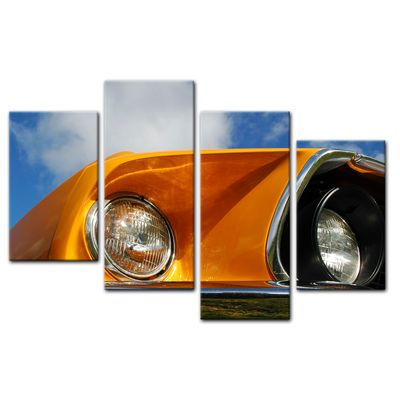 Leinwandbild - Ford Mustang - orange – Bild 5