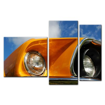 Leinwandbild - Ford Mustang - orange – Bild 7