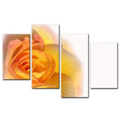 Leinwandbild - Gelbe Rose – Bild 5