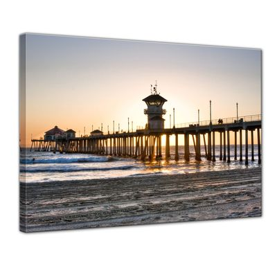 Leinwandbild - Huntington Beach - Kalifornien – Bild 1