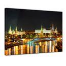 Leinwandbild - Nachtansicht des Kreml - Moskau 001